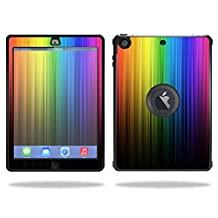 Mightyskins Protective Skin Decal Cover for OtterBox Defender Apple iPad Air Case wrap sticker skins Rainbow Streaks