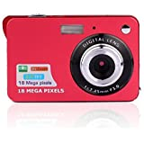 Fosa Mini Digital Camera with 2.7 Inch TFT LCD Display, 18 Mega Pixels Rechargeable Digital Students cameras Support HD 720P 8X Digital Zoom for Kids Adult Seniors Children (Red)