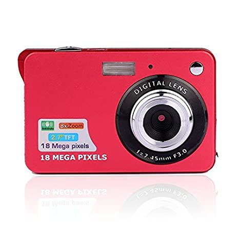 Fosa Mini Digital Camera with 2.7 Inch TFT LCD Display, 18 Mega Pixels 3.0MP CMOS Sensor Support HD 720P 8X Digital Zoom Digital Video Camera A Great Gift for Birthday and Christmas(Silver) DC-985