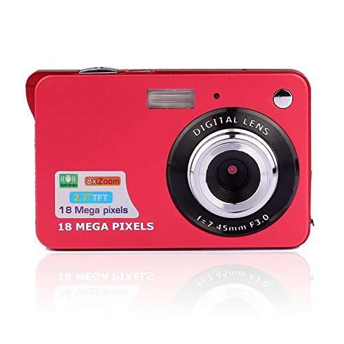 Tft Screen Camera (Fosa Mini Digital Camera with 2.7 Inch TFT LCD Display,18 Mega Pixels 3.0MP CMOS Sensor Support HD 720P 8X Digital Zoom Digital Video Camera A Great Gift for Birthday and Christmas (Red))