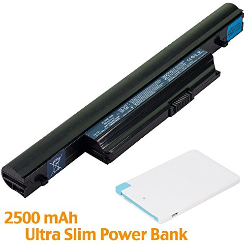 Battpit™ Laptop/Notebook Battery Replacement for Acer AS10B73 (4400mAh / 48Wh) with 2500mAh Power Bank/External Battery for Micro USB & USB Type ()