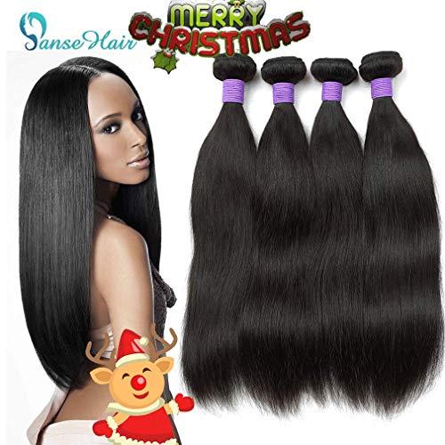 10A Peruvian Remy Silky Straight Hair 4 Bundles (24 24 26 26) 100% Unprocessed Peruvian Straight Hair Wave Human Bundles Double Wefts 1B Color Peruvian Straight Hair Extensions
