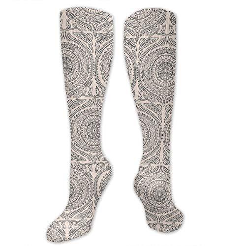 Xayeu Sundial White Compression Socks Women Knee High for Pregnancy, Nurses, Maternity, Travel, Flight, Running, Sports. - Golf Sundial