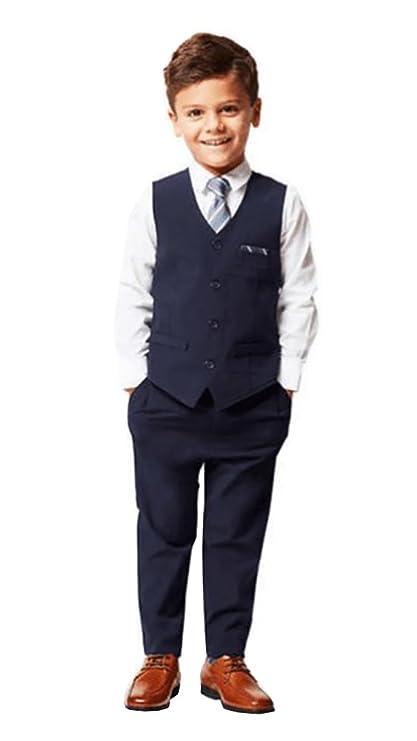 9aa3cf783e Amazon.com  Andy   Evan Boys Formal 4-Piece Suit with Vest
