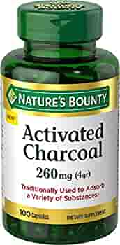 الفحم النشط من ناتشرز باونتي 260 ملغ 100 كبسولة مكمل غذائي لدعم نمط حياة صحي Amazon Ae