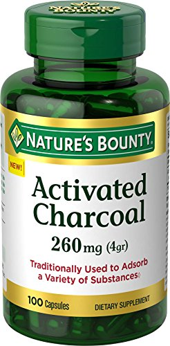 (Nature's Bounty Activated Charcoal 260 mg, 100 Capsules, Dietary Supplement to Support a Healthy Lifestyle )