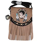 Betty Boop Indian ShoulderBag Fringes Messenger Bag for iPad and Tablets