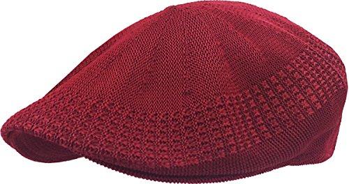 KBETHOS KBM-001 BUR S Classic Mesh Newsboy Ivy Cap Hat (21 Colors / 4 Sizes) Burgundy