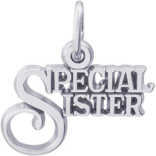 Rembrandt Charms Special Sister Charm in Gold OR Silver (Sterling Silver)