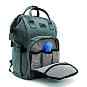 Mini Me Diaper Bag Backpack for Baby - Multi-Functional Maternity Nappy Bags - Durable and Stylish, Large Capacity, Stroller Straps, Insulated Pockets, Wipe Holder, Bonus Changing Pad