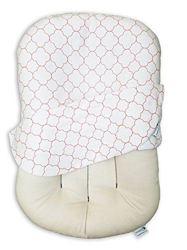 Snuggle Me Organic | Patented Sensory Lounger For Baby | Organic Cotton, Virgin Fiberfill | Counting Sheep