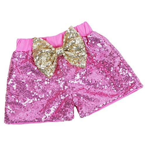 Baby Girls Shorts Sparkle Toddler Sequin Shorts Glitter on Both Sides Birthday Outfits Pink Gold 12 Months