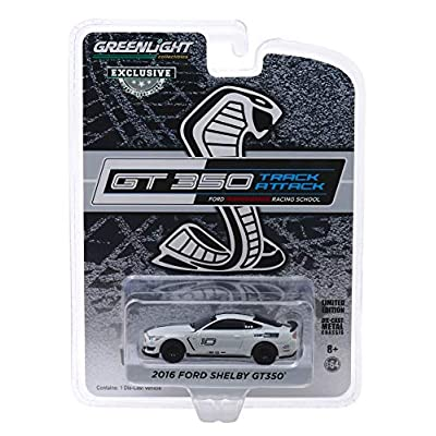 2016 Ford Mustang Shelby GT350#10 Avalanche Gray Ford Performance Racing School GT350 Track Attack 1/64 Diecast Model Car by Greenlight 30108: Toys & Games