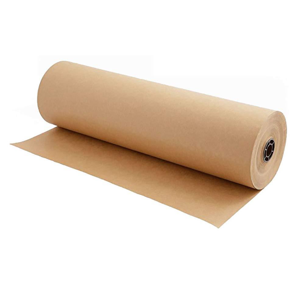 Rouleau de papier kraft recycl/é naturel id/éal pour emballer des cadeaux