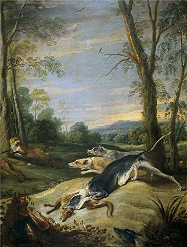 Oil Painting 'Snyders Frans Zorras Perseguidas Por Perros 17 Century', 12 x 16 inch / 30 x 40 cm , on High Definition HD canvas prints is for Gifts And - Whitfords Centre Shopping