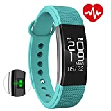 BINGO Silicon F1 Waterproof Smart Band With Heart Rate Monitoring For All Android & IOS Devices (Sea Green)