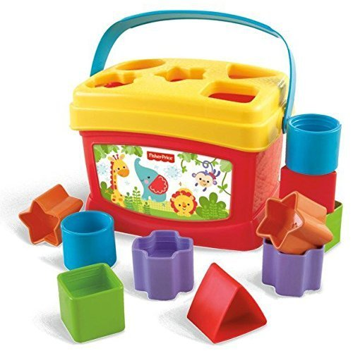 Baby Toddler Educational Learning Shapes and Colors Toys-Blocks in Bucket (Halloween Buckets Walmart)