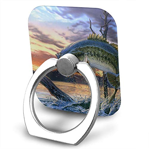 ZYYSLHH Bass Fish Jumping 360 Rotating Phone Metal Buckle Tablet Finger Grip Ring Stand Holder Kickstand for All Phones Tablets - Jumping Fish Buckle