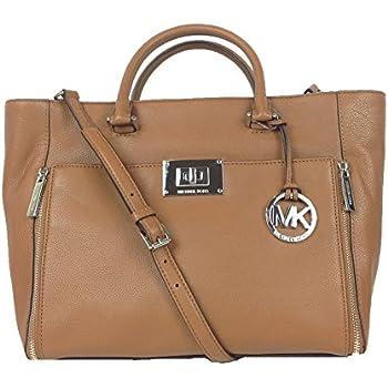 b0d4a5b18f3 Amazon.com  Michael Kors Carolyn Large Tote Soft Leather Handbag ...