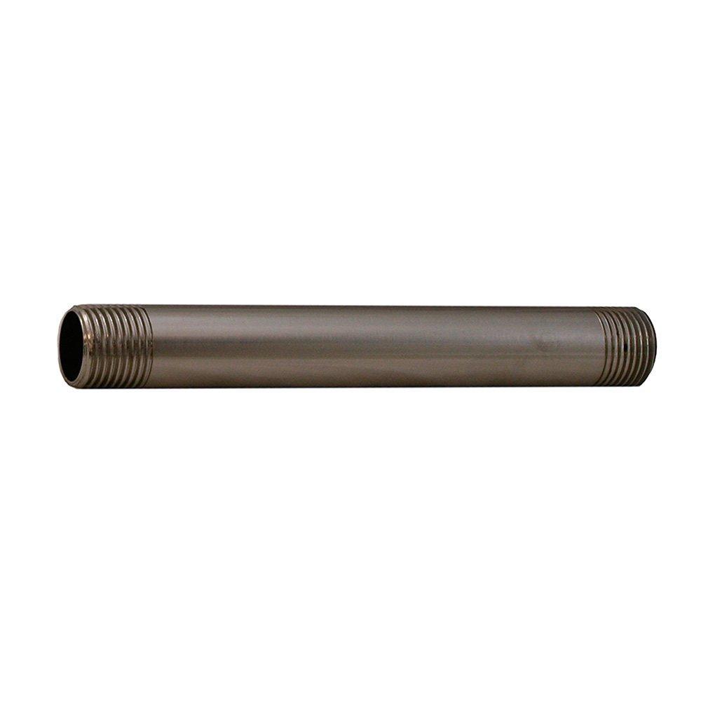 Jones Stephens N2310BN 1/2X6-Inch Brushed Nickel Red Brass Nipple