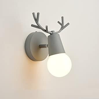 Nordic Eisen Wandlampen, Modern Minimalist LED Schwarz / Blau / Grau / Grün  / Pink