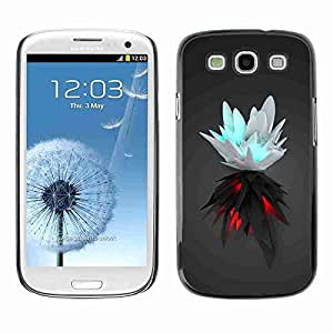 Planetar® ( White & Black Splash ) Fundas Cover Cubre Hard Case Cover Samsung Galaxy S3 III / i9300 i717