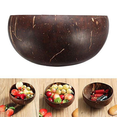 tazón de concha de coco para ensalada, cuencos de cereales naturales hechos a mano, frutas, aperitivos, postre, recipiente...