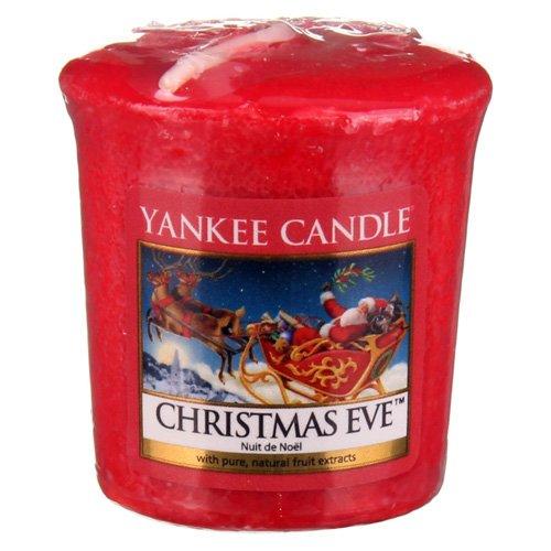 YANKEE CANDLE Samplers Candele Votive Christmas Eve, Cera, Rosso, 4.6 x 4.5 x 5.5 cm 1199616E