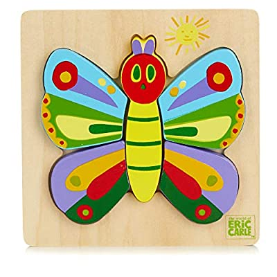 KIDS PREFERRED The World of Eric Carle, The Very Hungry Caterpillar and Friends Butterfly Puzzle: Toys & Games