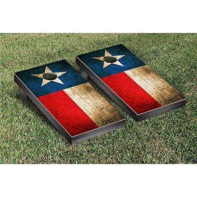 Victory Tailgate Texas Flag Vintage Cornhole Game Set