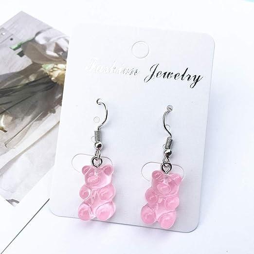 Gummy bear earrings fun cute earrings hook or clip on earrings
