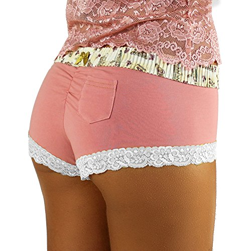 Cherry French Wine - French Rose Boyshorts Panties | Royal Crown Print Waistband