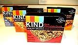 KIND Healthy Grains Granola Bars, VARIETY 4 PACK: DARK CHOCOLATE CHUNK, OATS & HONEY, PEANUT BUTTER DARK CHOCOLATE, VANILLA BLUEBERRY. 5 bars in each box. (4 PACK) Review