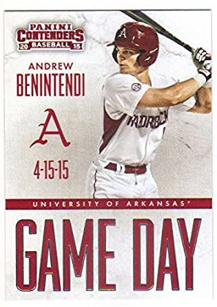 90012db07 2015 Panini Contenders Game Day Tickets  5 Andrew Benintendi Arkansas  Razorbacks