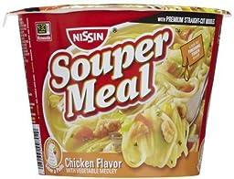 Nissin Souper Meal Chicken Vegetable Medley Ramen Noodle Soup, 4.3 OZ (Pack of 12)