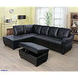 Beverly Fine Funiture Sectional Sofa Set