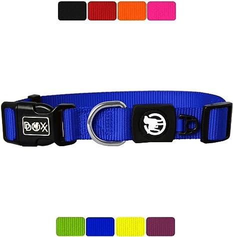 rosa, azul, rojo y negro Collar de perro brillante ajustable-grande y pequeño tamaño