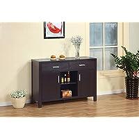 Modern Buffet Fine Dining Serving Table Stand Furniture (Dark Espresso)