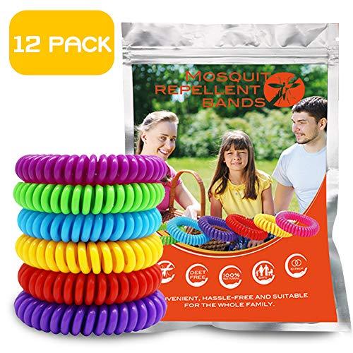 (GLOUE Mosquito Repellent Wristbands, 100% Waterproof Mosquito Repellent Wristbands, One Size Fit-All Mosquito Repellent Wristbands, Stylish Mosquito Repellent Wristbands )