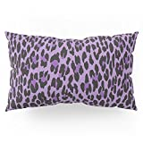 Society6 Animal Print, Spotted Leopard - Purple Black Pillow Sham King (20'' x 36'') Set of 2