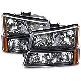 Chevy Silverado/Truck 4-Piece Chrome New Headlights Set w/Runing Lights