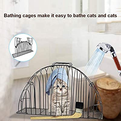 TAKEMORE7 - Jaula para Mascotas de 2 Puertas, para Gatos o Gatos, fácil de bañar, Ligera, Antiarrugas, para Gatos de Menos de 3 Libras, ...