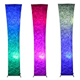 color changing lamp - Floor Lamp - IDELIFE Tyvek Fabric Shade + Dimmable Warm White Light & Color Changing RGB with Remote Control & 2 Smart LED Bulbs 52