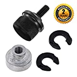 Seat Bolt Screw Nut Kit Black for Harley Davidson 1996-2016 Fender Quick Mount Billet Aluminum Knurled Sides 1/4