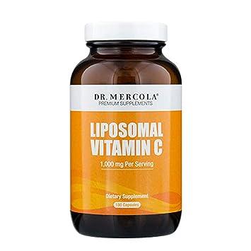 Dr. Mercola Liposomal Vitamin C 1,000mg per Serving - 180 Capsules - 90  Servings