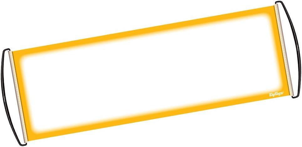 i concerti si adatta alla tasca lo spirito di squadra rosa solido riutilizzabile Si arrotola automaticamente portatile ZipSign lo striscione si srotola a 24x68 cm Ideale per lo sport