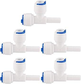 sourcing map Rápida Conexión Agua Purificador Tubo Empuje Conector ...