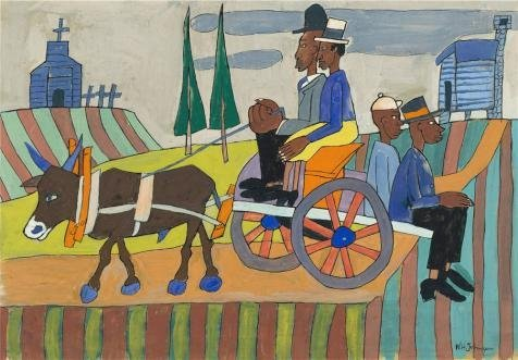 'William H. Johnson,Going To Church,ca.1940-1941' Oil Painti