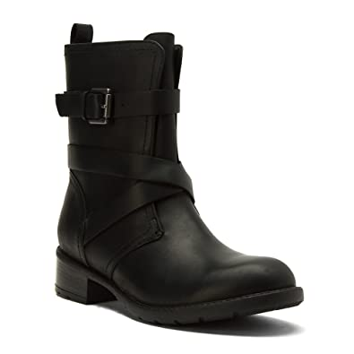 clarks womens black leather boots