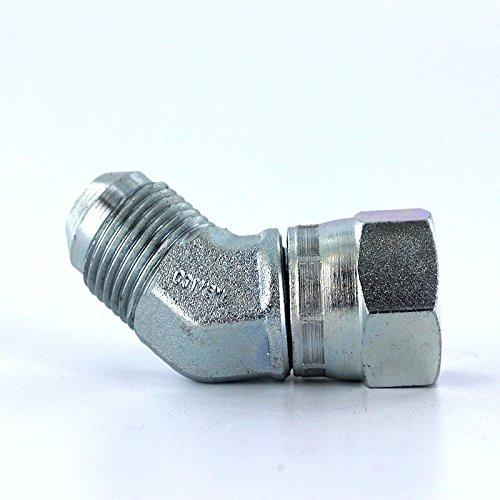 Parker 4 V6X-S Swivel Nut 45 Deg Elbow 1//4 JIC Steel